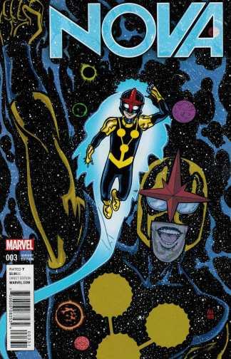 Nova #3 1:25 Mike Allred Variant ANAD Marvel 2015