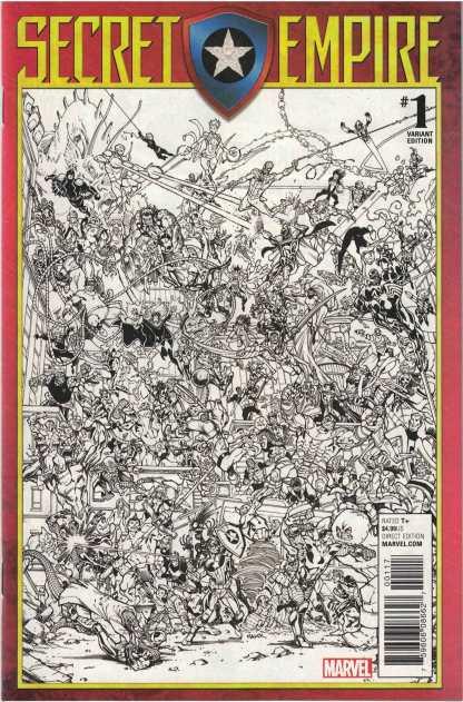 Secret Empire #1 Todd Nauck Party Sketch Variant Marvel 2017 One Per Store HTF