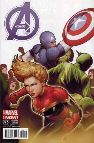 Avengers #28 1:20 John Tyler Christopher Captain America Variant 2013 Hickman