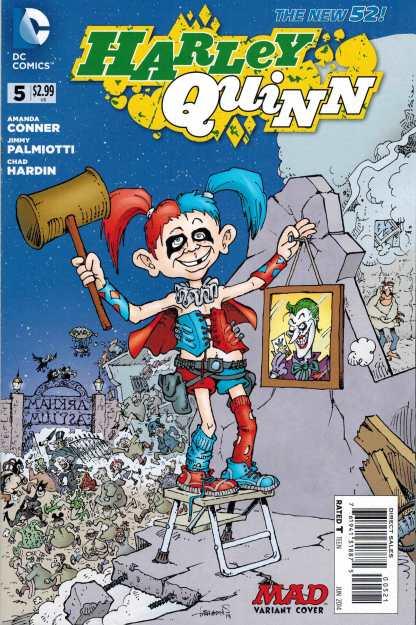Harley Quinn #5 1:25 Mad Variant Sergio Aragones New 52