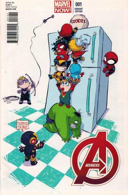 Avengers #1 NOW Skottie Young Baby Variant 2012 Hickman
