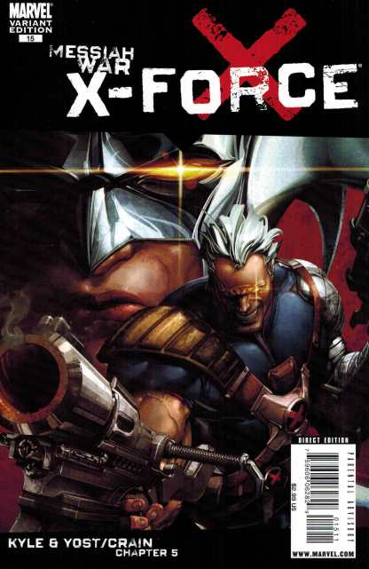X-Force #15 Kaare Andrews Variant Marvel 2008 Cable Messiah War