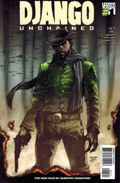 Django Unchained #1 1:25 Jim Lee Color Variant Vertigo 2013 HTF VERY RARE