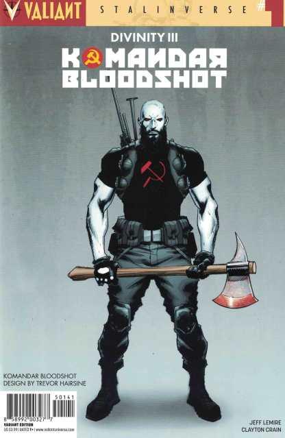Divinity III Komandar Bloodshot #1 1:10 Hairsine Variant Cover D Valiant 2016