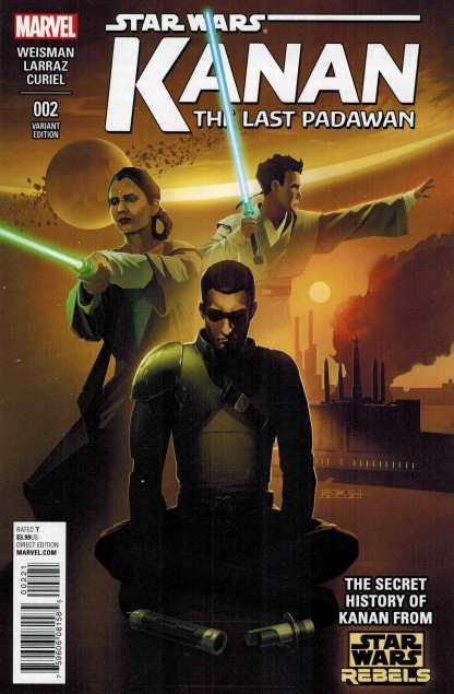 Kanan the Last Padawan #2 1:25 TV Variant Star Wars Rebels Marvel 2015