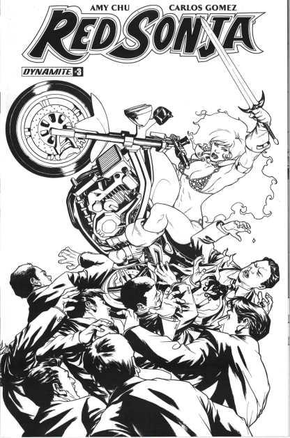 Red Sonja #3 1:20 Mike McKone Black & White Sketch Variant Dynamite 2017