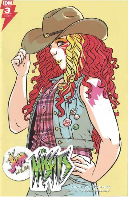 Jem and the Misfits #3 1:10 Sophie Campbell RI Variant IDW 2017