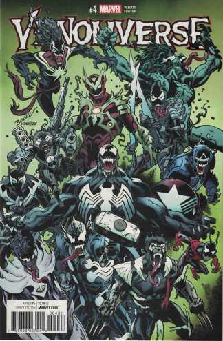 Venomverse #4 1:50 Mark Bagley Variant Marvel 2017 Spider-Man