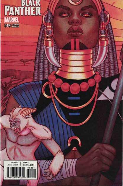 Black Panther #18 Jenny Frison Connecting Variant Marvel 2016