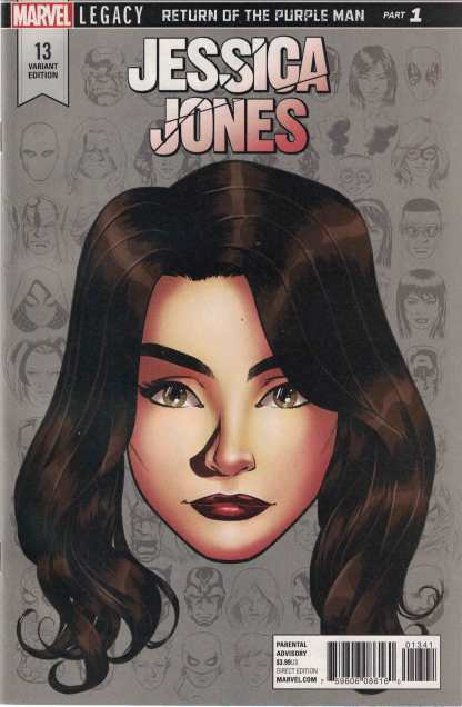 Jessica Jones #13 1:10 Mike McKone Legacy Headshot Variant Marvel 2016