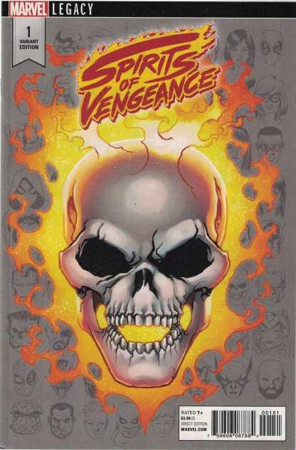 Spirits of Vengeance #1 1:10 Mike McKone Legacy Headshot Variant Marvel 2017