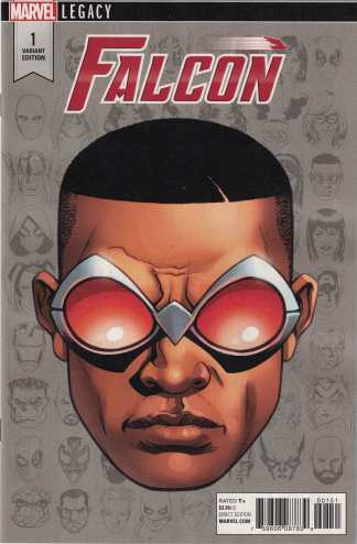 Falcon #1 1:10 Mike McKone Legacy Headshot Variant Marvel 2017