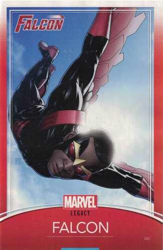 Falcon #1 Unlocked John Tyler Christopher Trading Card Variant Marvel Legacy