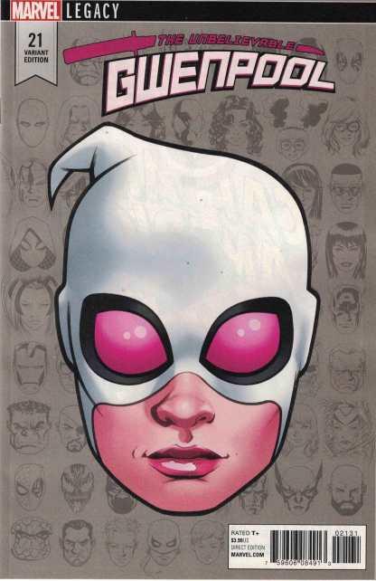 Gwenpool #21 1:10 Mike McKone Legacy Headshot Variant Marvel 2016