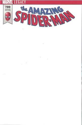 Amazing Spider-Man #789 Blank Sketch Variant Marvel Legacy