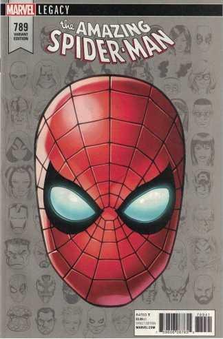 Amazing Spider-Man #789 1:10 Mike McKone Headshot Variant Marvel Legacy 2017