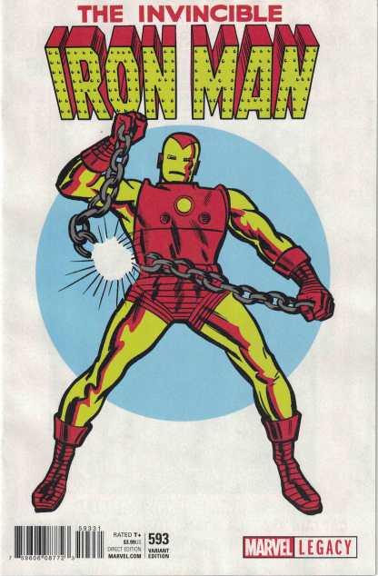 Invincible Iron Man #593 1:50 Jack Kirby 1965 T-Shirt Variant Marvel Legacy