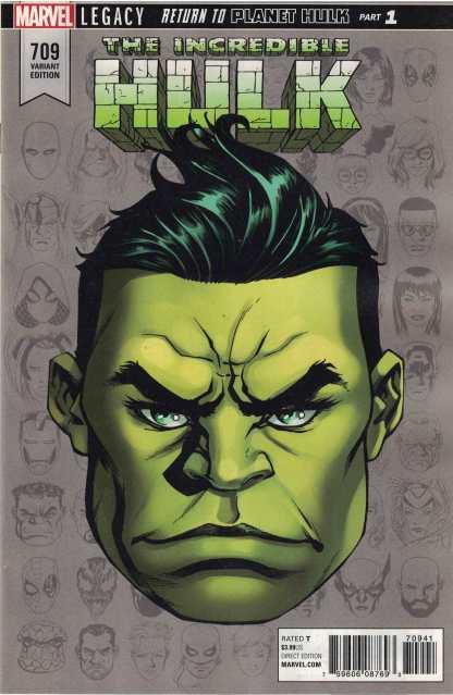 Incredible Hulk #709 1:10 Mike McKone Headshot Variant Marvel Legacy 2016