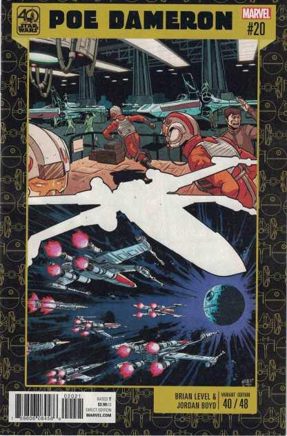 Star Wars Poe Dameron #20 Brian Level 40th Anniversary Variant Marvel