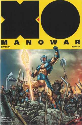 X-O Manowar #8 1:20 Juan Jose Ryp Interlocking Valiant Variant 2017