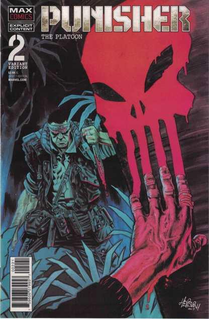 Punisher Platoon #2 1:25 Scott Hepburn Variant Marvel 2017