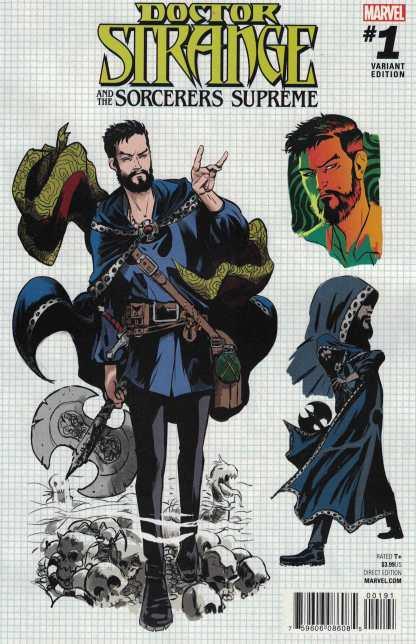 Doctor Strange & Sorcerers Supreme #1 1:15 Rodriguez Design Variant Marvel 2016