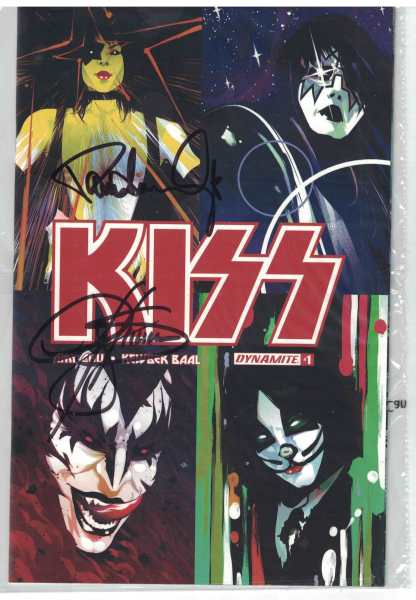 Kiss #1 1:50 Variant Cover M Signed by Gene Simmons & Paul Stanley Comic HTF