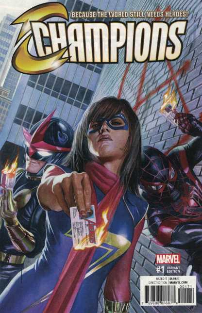 Champions #1 1:100 Alex Ross Variant NOW Marvel 2016