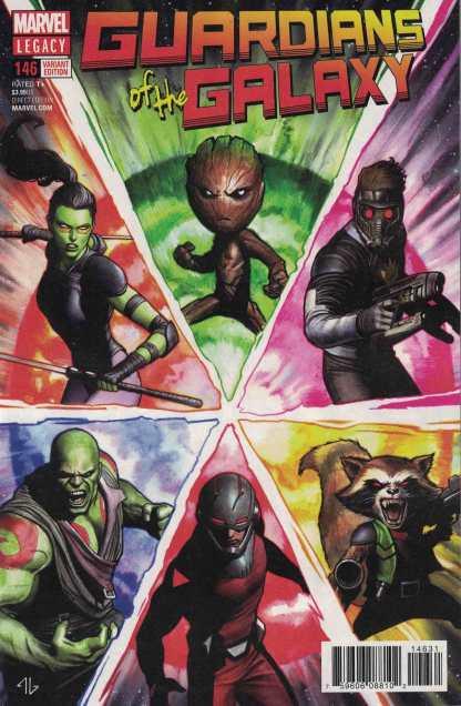 Guardians of the Galaxy #146 1:25 Adi Granov Variant Marvel Legacy 2017 GotG