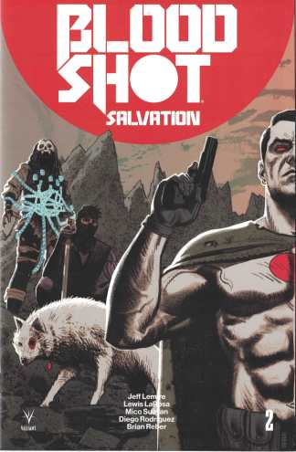 Bloodshot Salvation #2 1:20 Greg Smallwood Valiant Interlocking Variant 2017