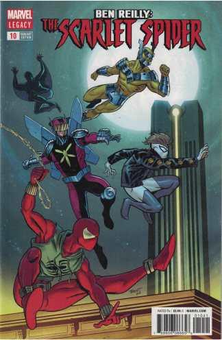 Ben Reilly Scarlet Spider #10 1:25 Brent Schoonover Variant Marvel Legacy