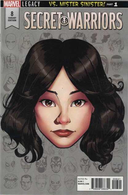 Secret Warriors #8 1:10 Mike McKone Headshot Variant Marvel Legacy