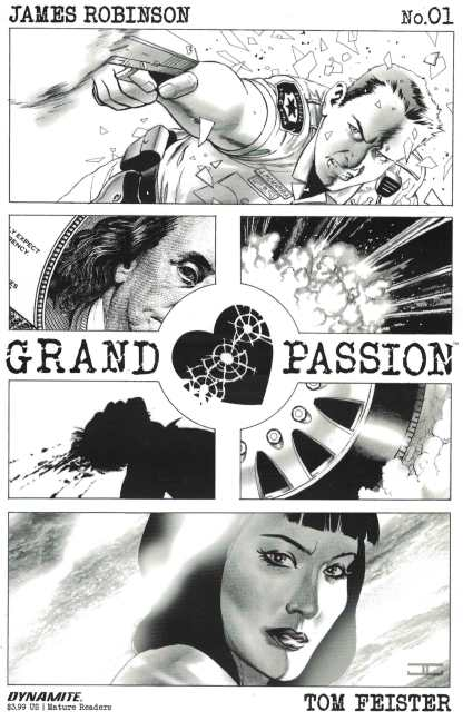 Grand Passion #1 1:15 John Cassaday Black & White Sketch Variant Dynamite 2016