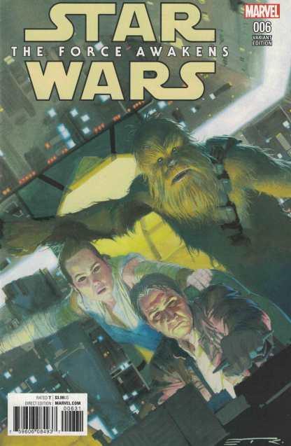 Star Wars Force Awakens Adaptation #6 1:25 Esad Ribic Variant Marvel 2016