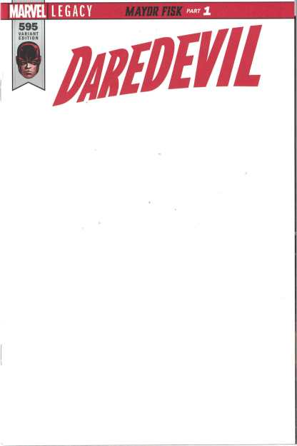 Daredevil #595 Unlocked Blank Sketch Variant Marvel Legacy 2017