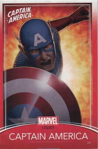 Captain America #695 Unlocked John Tyler Christopher Trading Card Variant Marvel