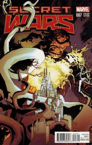 Secret Wars #7 1:25 Tomm Coker Classic Variant Marvel 2015 SWA