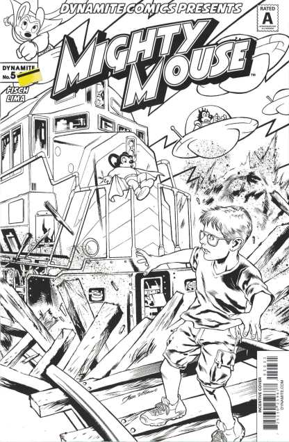 Mighty Mouse #5 1:10 Igor Lima B&W Variant Cover C Dynamite 2017