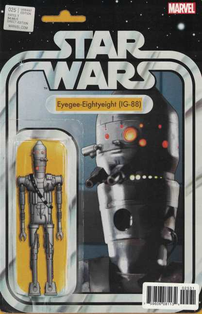 Star Wars #25 John Tyler Christopher IG-88 Action Figure Variant Marvel 2015