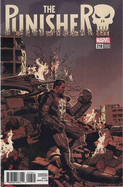 Punisher #218 1:25 Greg Smallwood Variant Marvel Legacy