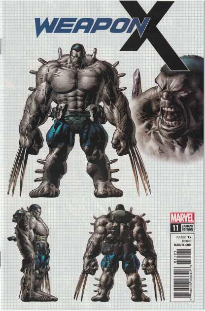 Weapon X #11 1:25 Mike Deodato Character Design Variant Marvel 2017