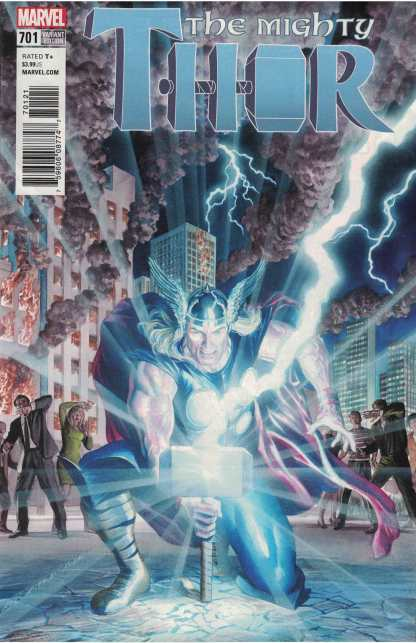 Mighty Thor #701 1:50 Alex Ross Variant Marvel Legacy