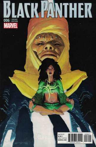 Black Panther #6 Esad Ribic Connecting Varaint Marvel ANAD 2016