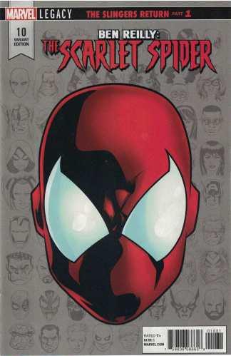 Ben Reilly Scarlet Spider #10 1:10 Mike McKone Headshot Variant Marvel Legacy