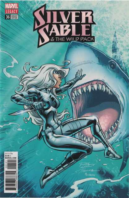 Silver Sable and the Wild Pack #36 1:25 Ron Lim Variant Marvel Legacy