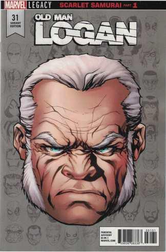 Old Man Logan #31 1:10 Mike McKone Headshot Variant Marvel Legacy 2017