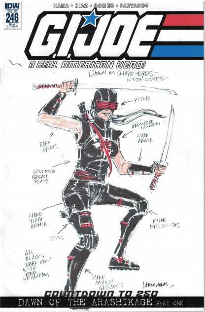 G.I Joe Real American Hero #246 1:10 Larry Hama RI Variant IDW