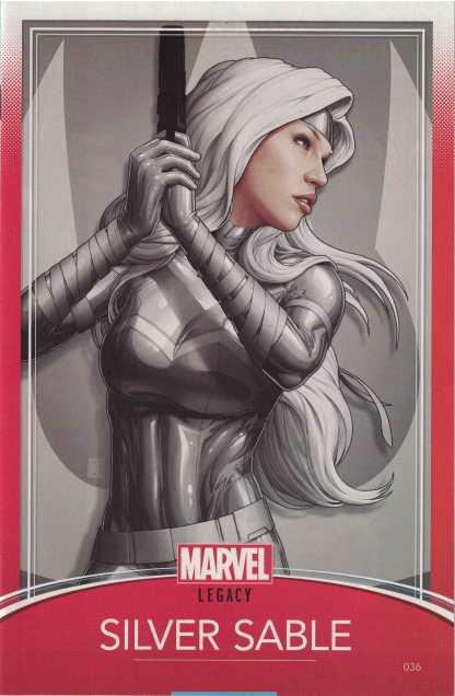 Silver Sable #36 John Tyler Christopher Trading Card Variant Marvel Legacy