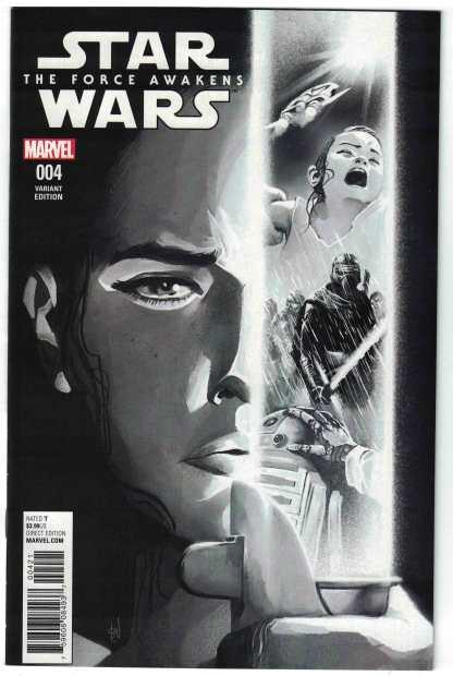 Star Wars Force Awakens Adaptation #4 1:75 Del Mundo Sketch Variant VF/NM Marvel