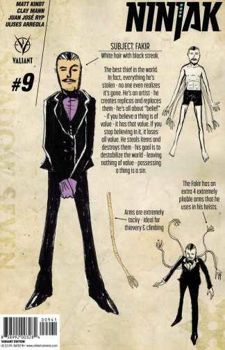 Ninjak #9 1:10 Matt Kindt Design Variant Valiant